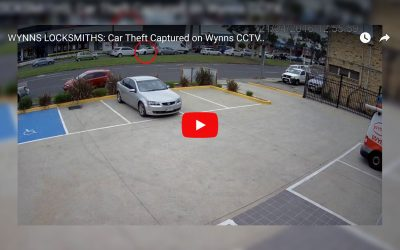 Car Theft Captured on Wynns Security Camera