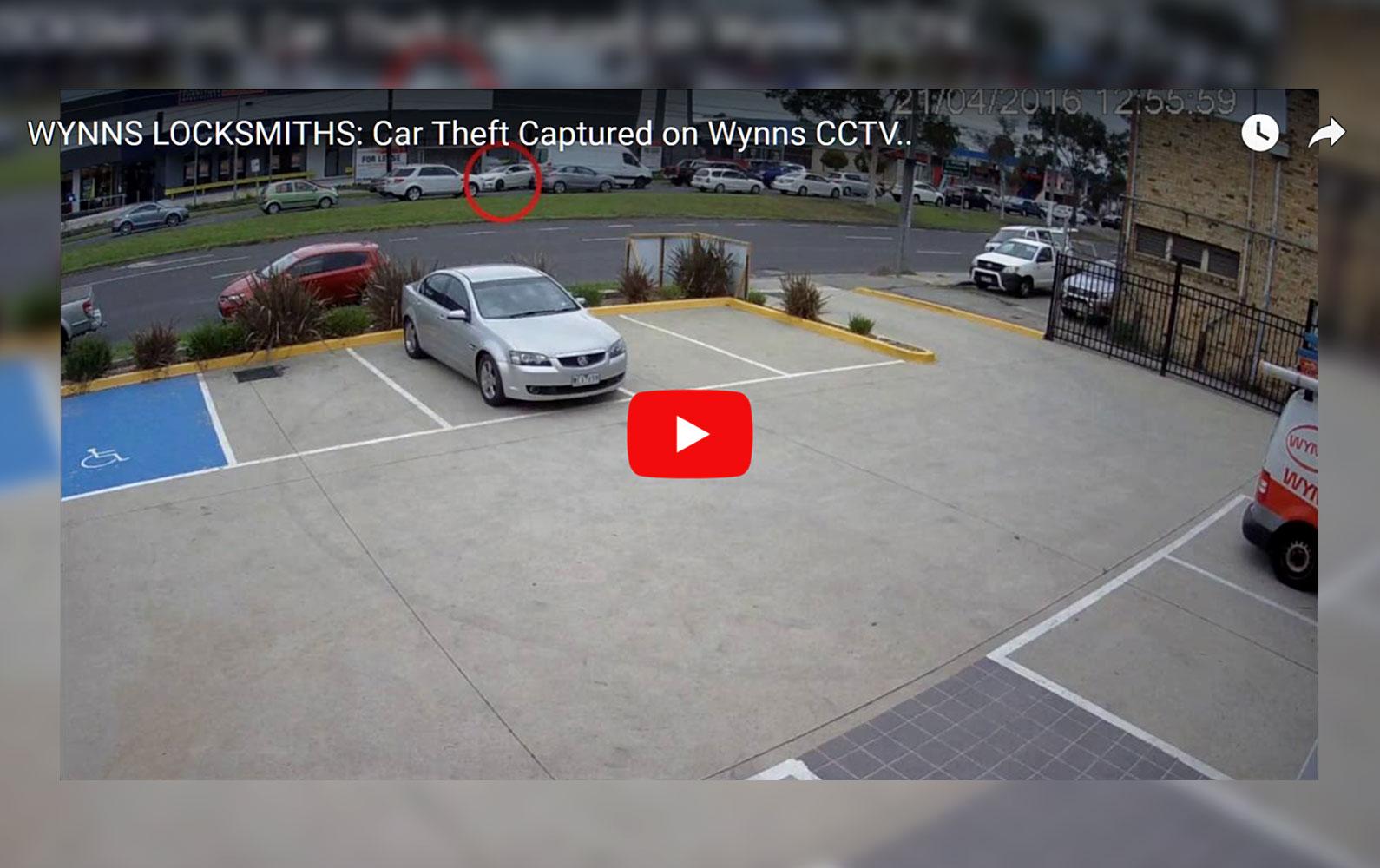 Car Theft Captured on Wynns Security Camera